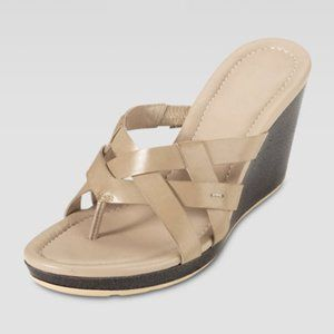 Cole Haan Bonnie Strappy Wedge Thong Sandal